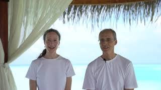 Visiting Practitioners, Jill Banwell & Claude Simard at Anantara Veli Maldives Resort