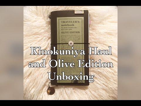 Kinokuniya Haul || Travelers Company Olive Edition Unboxing