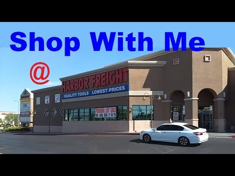 Shop with Me, Harbor Freight Parking Lot Sale (August 2018)