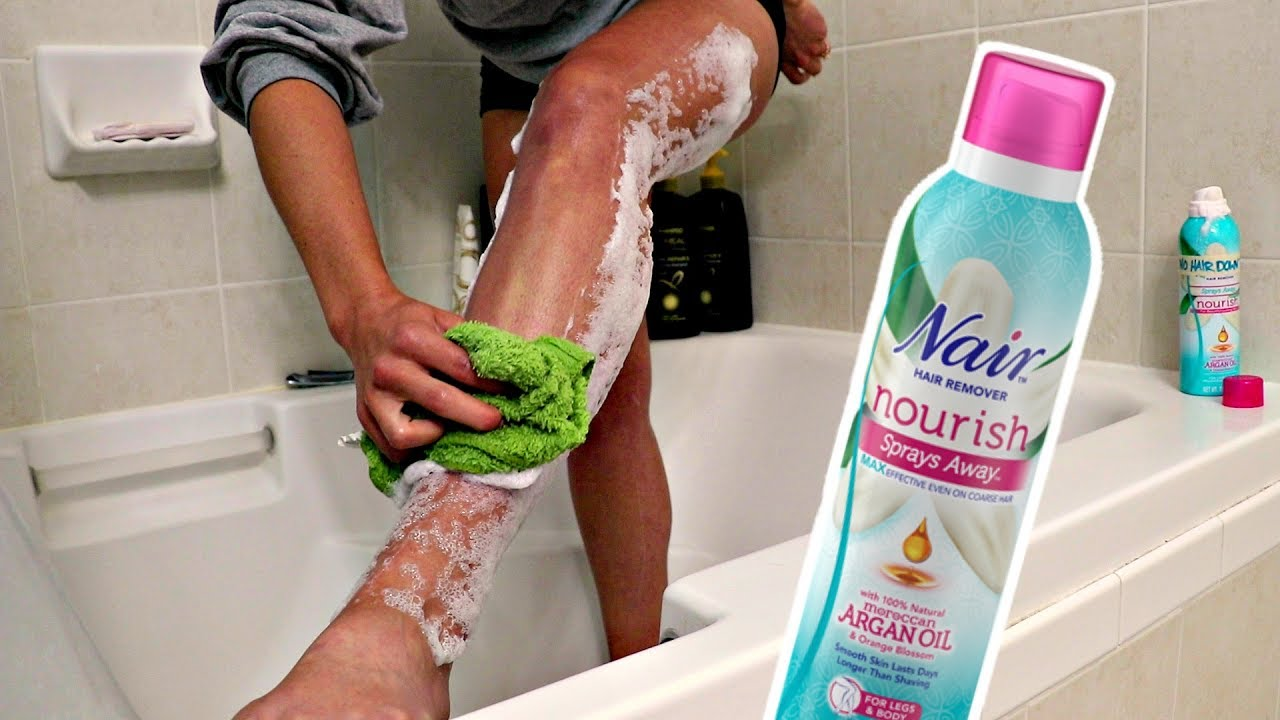 The Secret Trick To Using Nair Hair Removal Youtube