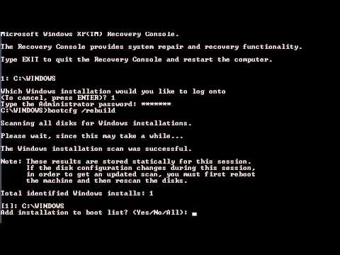 Repair or Replace Boot.ini in Windows XP