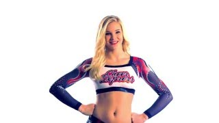 New Raging Flame Sublimated Cheer Top by GK Cheer