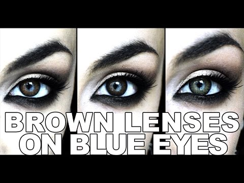 brown eye contacts on blue eyes 3 shades freshlook colorblends