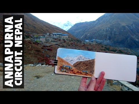 WHAT I SKETCHED AT ANNAPURNA CIRCUIT TREK, NEPAL