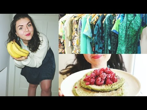 WHAT I EAT IN A DAY & VINTAGE CLOTHES SHOPPING