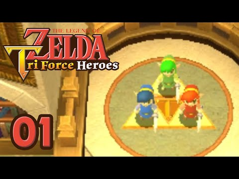 ZELDA TRI FORCE HEROES 3DS #01 - Trio de choc !
