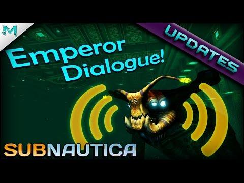 Subnautica UPDATES! SEA EMPEROR DIALOGUE! New 02 Tanks, Grass Physics! (Experimental)