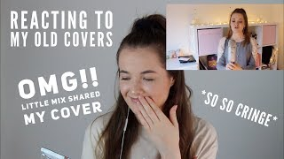 REACTING TO MY OLD PRIVATED COVERS!  *SO CRINGE*  *SO EMBARRASSING *