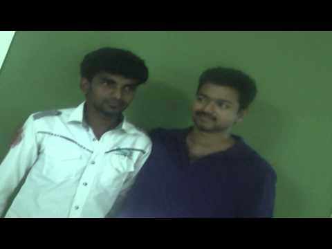 Vijay with his Die Hard Fan Arul