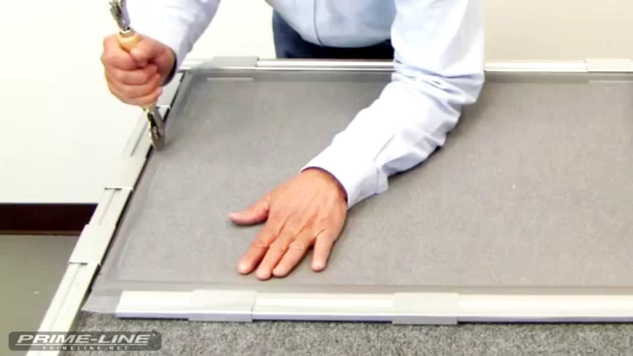 Aluminum Window Frame Material : How to re screening an aluminum window screen youtube