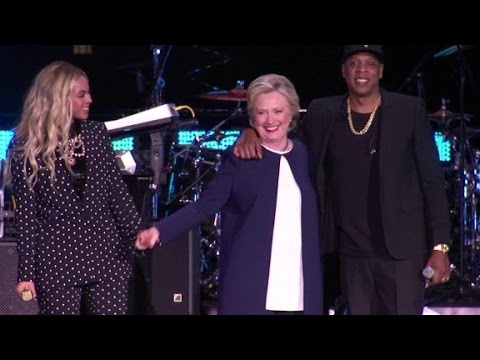 Beyonce and Jay-Z show support for Hillary Clinton