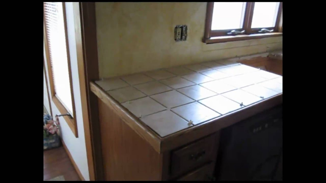 Ceramic tile kitchen counter top youtube dailygadgetfo Gallery