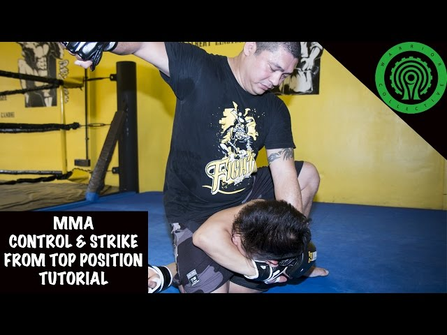 MMA Controlling and Striking your Opponent from top position Tutorial