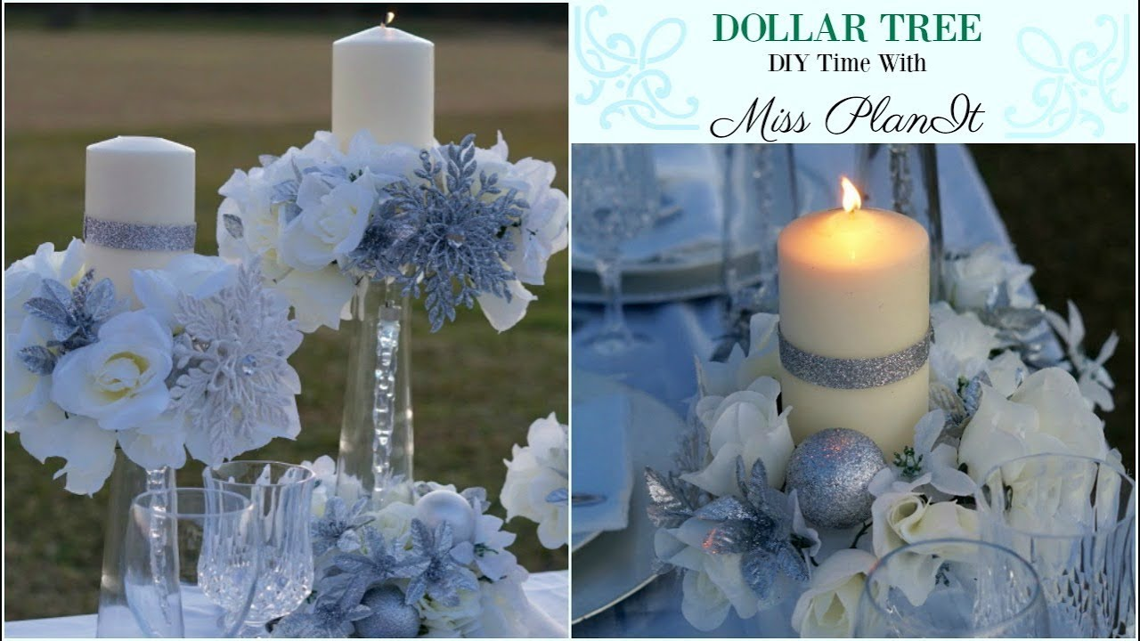 Diy Dollar Tree Wedding Centerpiece For 10 Diy Dollar