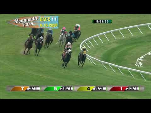 video thumbnail for MONMOUTH PARK 08-15-20 RACE 11