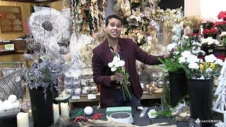 Jimmy Guzman of JNG Event Consulting designs a Winter Tablescape Centerpiece