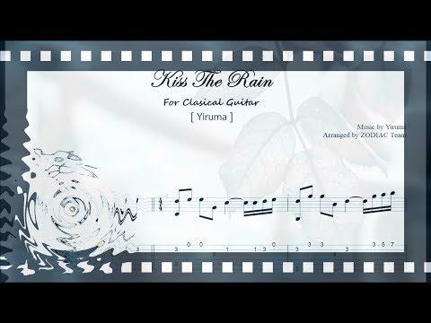 Kiss The Rain(키스 더 레인)/Yiruma/Clasical Guitar/tab/Sheet Music