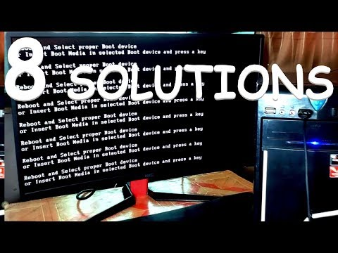 HOW TO FIX REBOOT AND SELECT PROPER BOOT DEVICE OR INSERT BOOT MEDIA IN SELECTED BOOT DEVICE ?