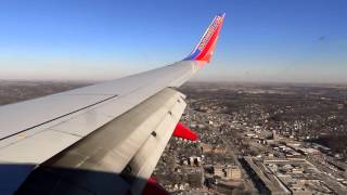 Full Southwest Airlines Descent, Approach, and Landing Into Omaha Nebraska (KOMA)