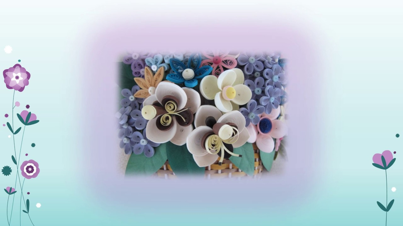 Original Paper Quilling Wall Art - Basket With Orchids ...