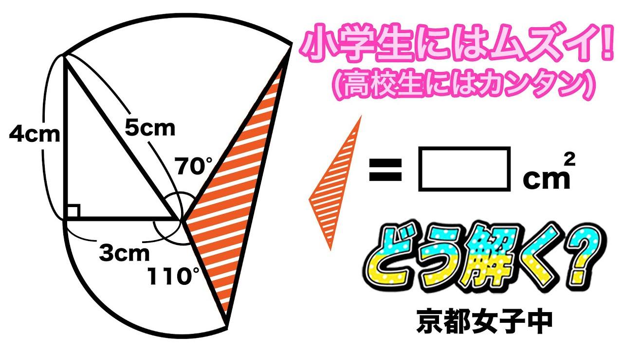 【面白い算数の問題】中学入試 面積 算数 京都女子中