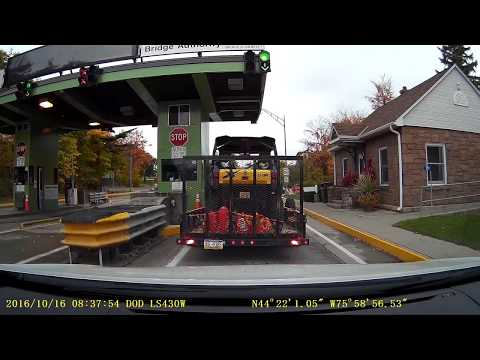 Canada To USA 1000 Island Border Crossing 2016