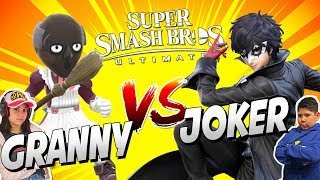 Granny VS Joker Super Smash Bros Ultimate Joker Gameplay en Español
