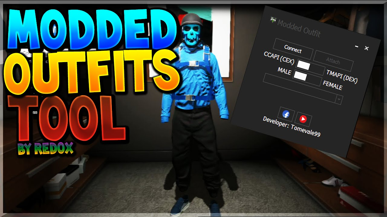 [17.82 MB] [PS3/GTA5] Modded Outfits Tool For Gta 5 Online By Tomevale99 | By Redox | Grbbr