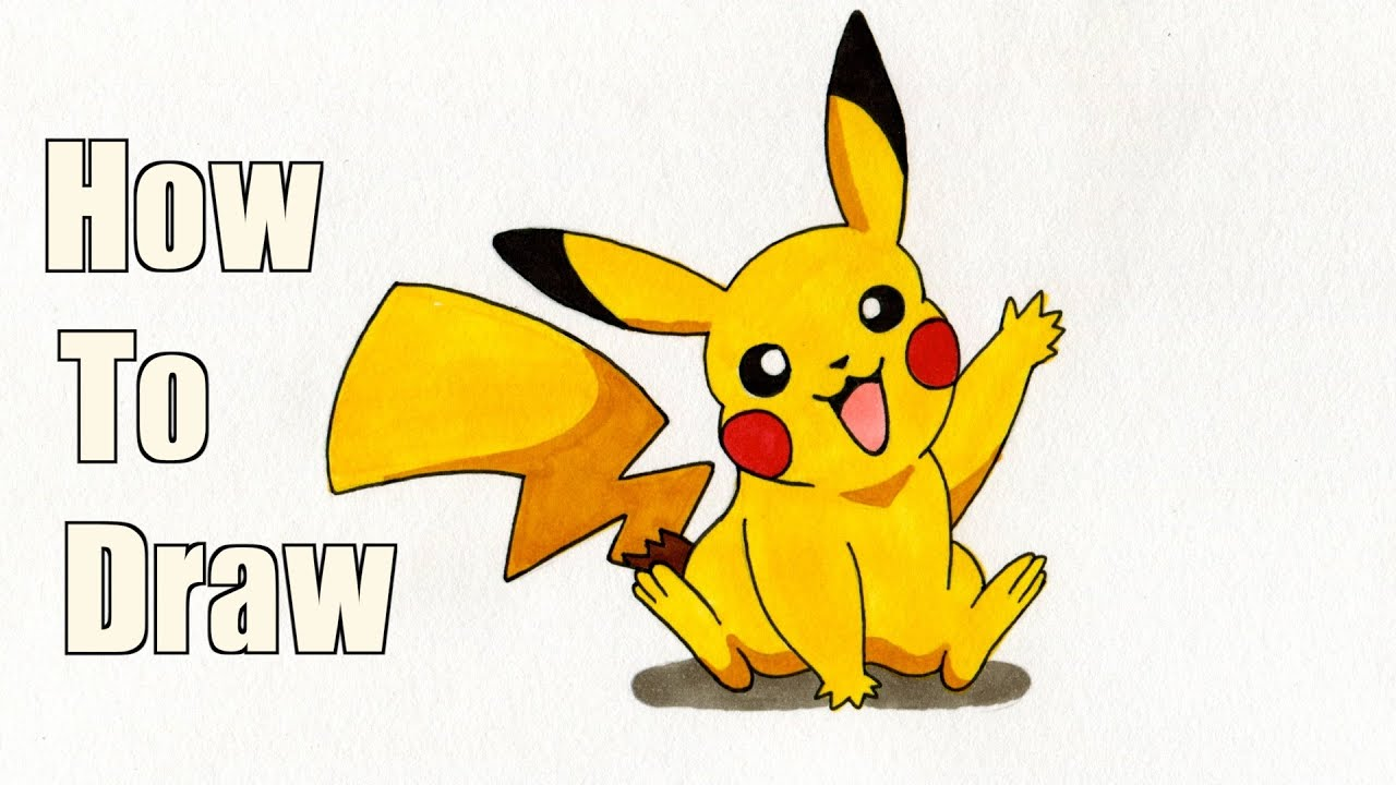 how to draw pikachu pokemon drawing tutorial youtube