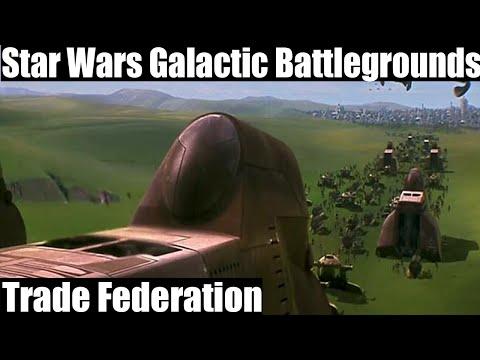 Star Wars Galactic Battlegrounds Gameplay - Trade Federation