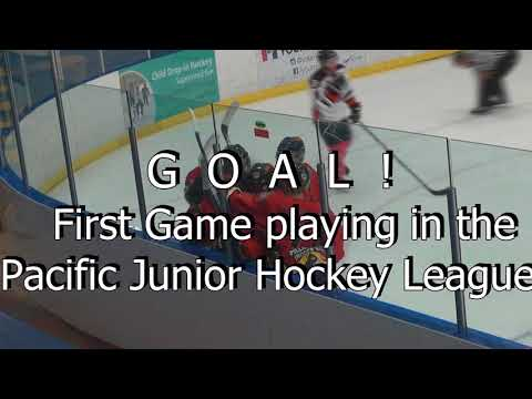 Joshua Gibbons Ridge Meadows Flames PJHL 2016 First Game First Goal 3rd Star