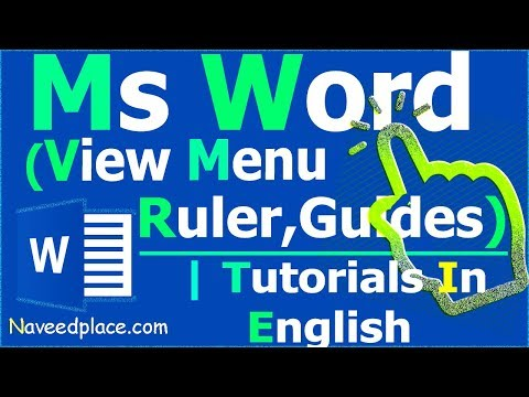MS Word - View Menu   View,Guides,New Window, Arrange All   Tutorials