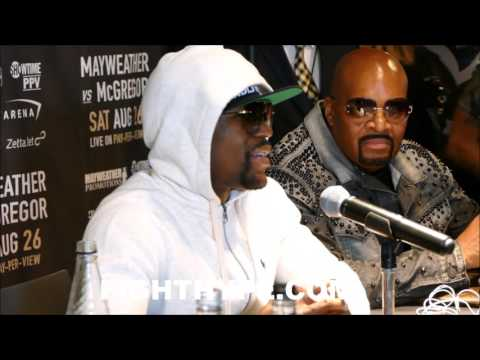 MAYWEATHER EXPLAINS WHAT HE WILL DO IF MCGREGOR USES MMA MOVES; SENDS WARNING ABOUT FACING HIM
