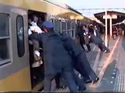 Tren de Tokio Japón. Así se sube la gente. Increíble