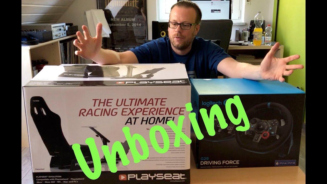 Unboxing Playseat Evolution + Logitech G29