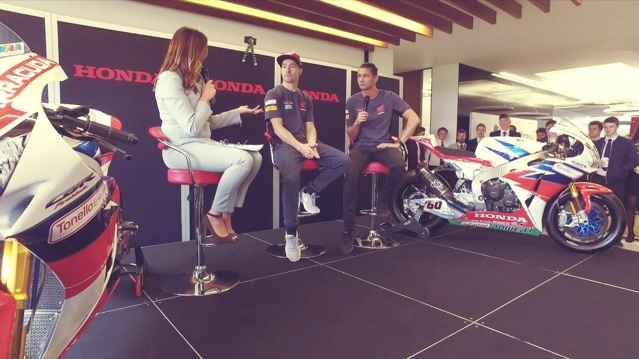 Hayden And Van Der Mark At Honda Motor Europes Headquarters