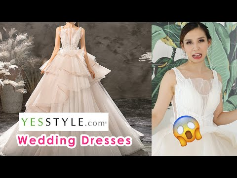 Trying On Cheap Wedding Dresses From YesStyle - Did I Waste My Money? 🤦🏻‍♀️