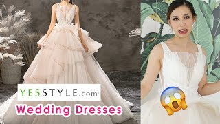 Trying on Cheap Wedding Dresses From YesStyle - Did I waste my money? ??♀️
