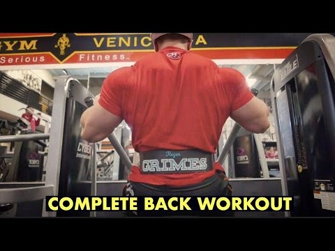 COMPLETE BACK WORKOUT | BODYBUILDING POST MEAL | GROCERY SHO