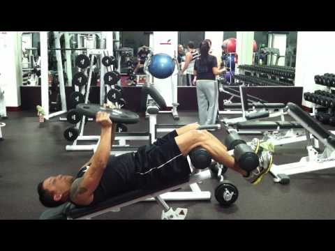 Decline Weighted Plate Sit Ups