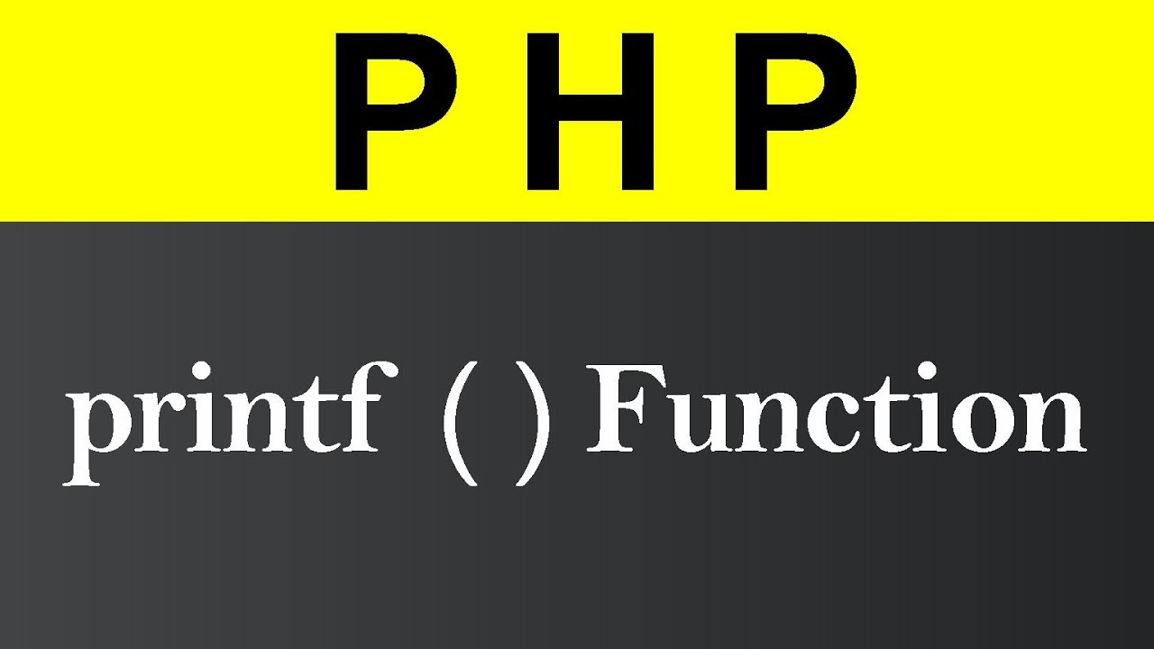 printf Function in PHP (Hindi)