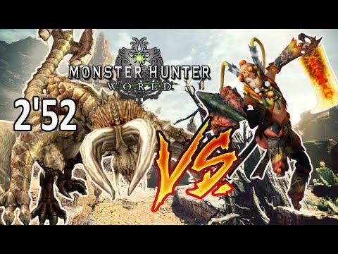 DIABLOS vs ESPADA Y ESCUDO solo (2'52) - Monster Hunter World (Gameplay Español) thumbnail