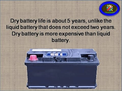 6 - The difference between dry and liquid battery
