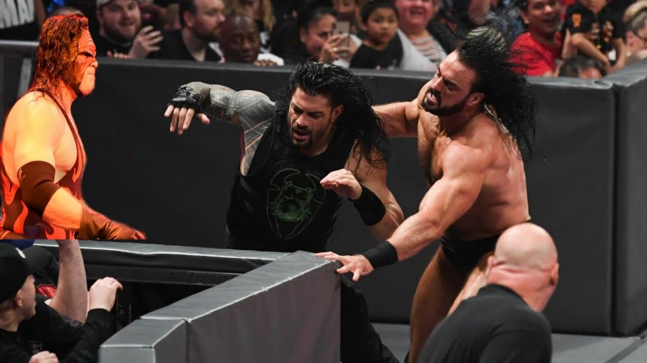 Download Kane Helps Roman Reigns Against Drew Mcintyre And Shane Mcmahon