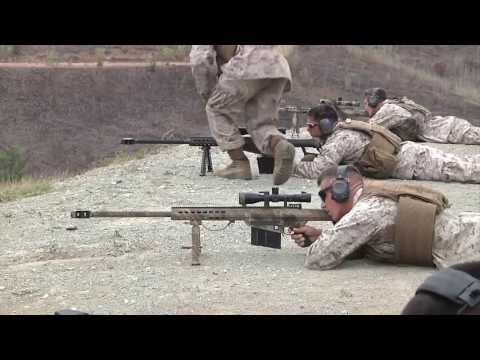 Marines Train With .50 Caliber Sniper Rifles Up To 1,400 Yards