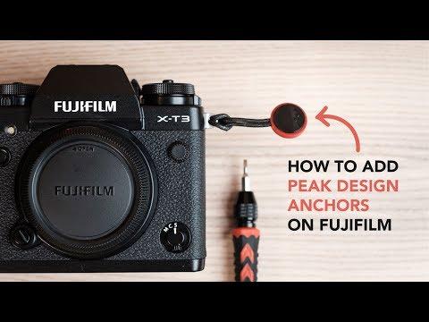 How to put Peak Design anchors on Fujifilm bodies!