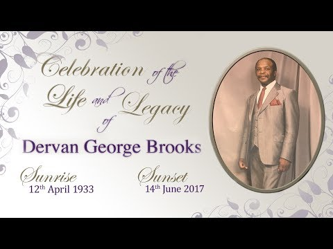 Celebration of the Life and Legacy of Dervan George Brooks
