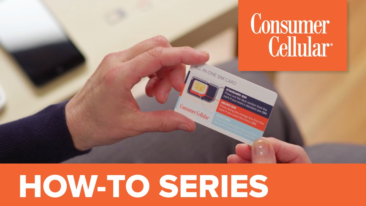 Using the Consumer Cellular All-In-One SIM Card