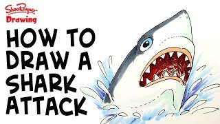 How to draw a Shark Attack!