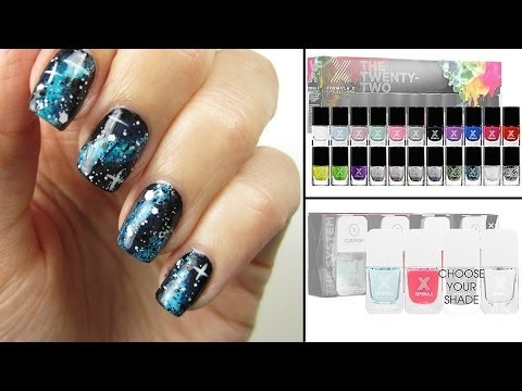easiest galaxy nails  youtube